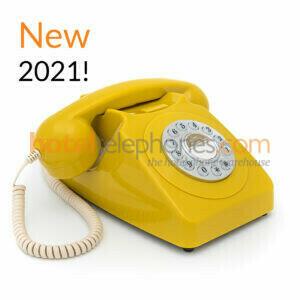 GPO 746 Push Button Mustard