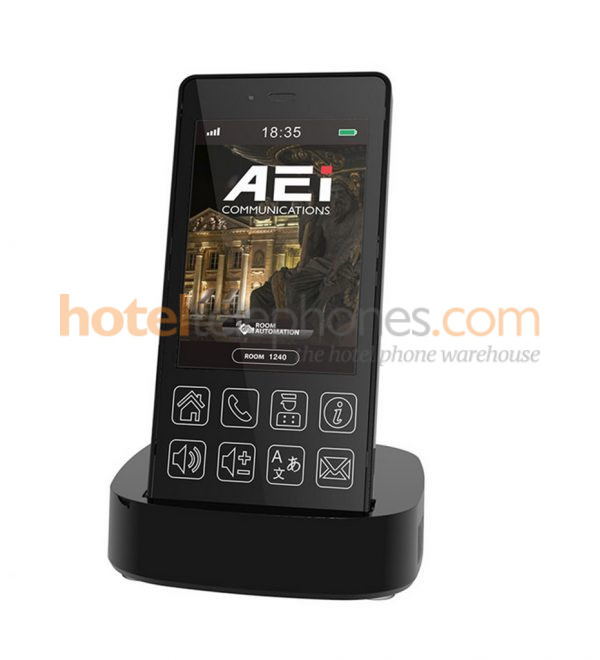 3.5 black inch Touch Screen DECT handset phone – VR 8200 SMBUSVR 8200 SPBU
