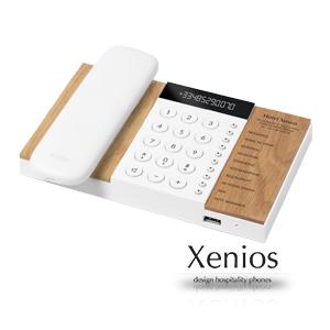 Xenios hotel phone with logo
